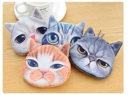 $enCountryForm.capitalKeyWord NZ - Hot Sales Lovely Cute Cat Face Print Zipper Coin Purses Wallets Makeup Mini Bag Pouch DHL Free Shipping