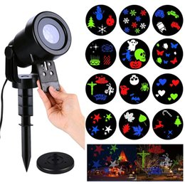 Wholesale Halloween Christmas Projector Lights Outdoor Holiday Light Switchable Patterns Led Landscape Spotlight for Home Wedding Birthday Party