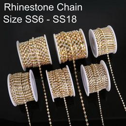 $enCountryForm.capitalKeyWord Australia - SS6-18 10yard Rhinestone Chains Copper Claw Transparent Glass Rhinestone DIY Jewelry Craft Apparel Sew On Accessoires