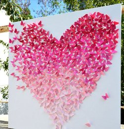 2018 Kids Party Backdrops 20pcs Shinniny Butterfly Wall Stickers 3D Beauty Home Decorations Wedding Gifts