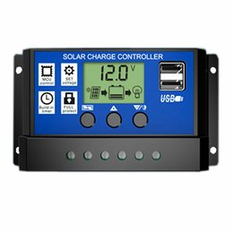 China 10A 20A 30A 12V 24V LCD Solar Charge Controller with Auto Regulator Timer for Solar Panel Battery Overload Protection suppliers