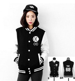 Exo jackEt online shopping - Jacket EXO Boys Luhan Kris Chanyeol Sweatshirt Tracksuit Winter Autumn Long Sleeve Women Hoodies Outerwears Baseball Jacket