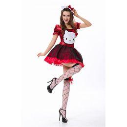 hello kitty blue hello kitty costume halloween cosplay costume for women - Halloween Hello Kitty Costume