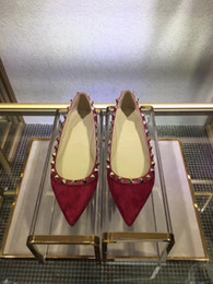 Discount burgundy dance shoes - 3015.2017 Designer women high heels party fashion rivets girls sexy pointed shoes Dance shoes wedding shoes Double strap