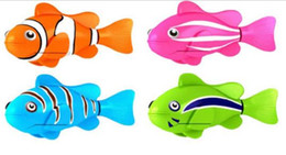 $enCountryForm.capitalKeyWord Canada - Fashion Robo Fish Water Activated Battery Powered Robofish kids Clownfish Bath Toys children Robotic Fish Electronic pet party festive gift
