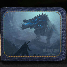 Leather Notecase NZ - Monster hunter wallet Cartoon purse Customized picture short cash note case Money notecase Leather burse bag Card holders