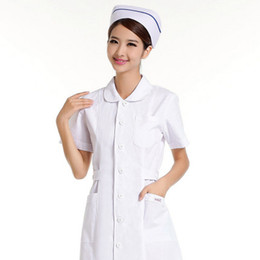 Nurses uNiforms suits online shopping - Summer wear short sleeved antibacterial isolation dental nurse HX pharmacy overalls uniform mouth can t suit the ball