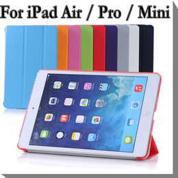 $enCountryForm.capitalKeyWord Canada - Folding Smart Cover Matte Back Leather Case For iPad Air 2 3 4 5 6 Mini iPad Pro 9.7 10.5 12.9 With Stand Auto Sleep Wake Smart Tablet Cases