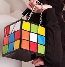 Wholesale Wholesale-Fashion Hot Handbag Purse Gift,Girl Women's Cute Magic Cube Bag Products