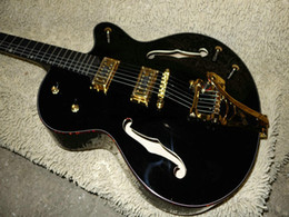 $enCountryForm.capitalKeyWord Canada - Free Shipping Custom Shop Black Jazz Guitar 6120 Ebony Fingerboard guitar Gold Hardware Wholesale Guitars HOT