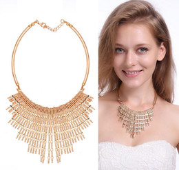 alloy wholesale Canada - Fashion Short Tassel Necklaces Pendants For Women 18KGP High-Grade Alloy Females Chokers Jewelry Min Order 10pcs Free Shipping 61161077