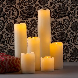 Wholesale Flameless Electronic Wedding Candles Decorative Led wax Candle Light Romantic marriage propose Valentines day Decor candle