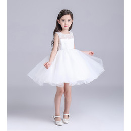 $enCountryForm.capitalKeyWord Canada - New White Embroidered Tutu Ball Gown Lace Zipper Flower Girl Dresses Kids Pageant Flower 2T-10T
