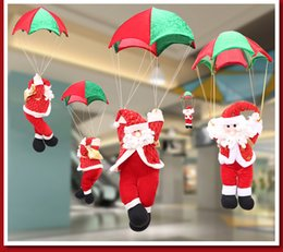 Wholesale Christmas Ornament Parachute Elderly Skydiving Senior Santa Claus strap Christmas climbing rope Senior man