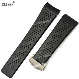 $enCountryForm.capitalKeyWord UK - FOR TAG IN STOCK Watch Bands 22mm 24mm Watchbands for Tag Black Diving Silicone Rubber Holes Band Strap Stainless Steel Replacement Golden