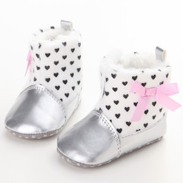 Bottillons Neufs En Gros Pas Cher-Vente en gros- Cute Leopard Baby Chaussures d'hiver Moccasin Toddler Boy Girl Bottes Nouveau-né Prewalker Chaussures Infantile Soft First Walkers Booties 0-18M
