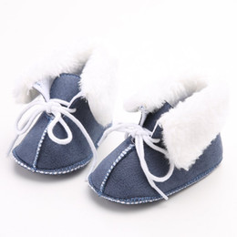 Barato Botas Recém-nascidas Por Atacado-Atacado - Newborn Baby Shoes Infant Toddler Girls Boy Crianças First Walkers Boots Booties 0-12 Month for Winter