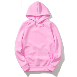 Wholesale sweatershirts women for sale - Group buy Men Women Solid Color Fleece Hooded Sweater Couple Kangaroo Pocket Blank Pullover Hoodies Sweatershirts Size M XL