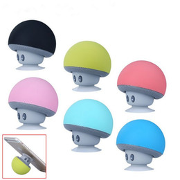iphone stereo player UK - Wireless Mini Bluetooth Speaker Portable Mushroom Waterproof Stereo with Mic Handfree Subwoofers for Mobile Phone iPhone Xiaomi Computer