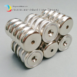 $enCountryForm.capitalKeyWord NZ - 200 pcs Mounting Magnet Diameter 32mm Clamping Pot Magnet with Countersunk Crew Hole Strong Neodymium Permanent Holding Magnet
