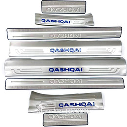 Door Sill Plate For Nissan UK - Internal + External Scuff Plate Door Sills for 2016 Nissan Qashqai Stainless Steel Threshold Strip Welcome Pedal Car Accessories