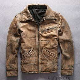Discount Retro Leather Motorcycle Jackets | 2017 Retro Leather ...