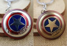 $enCountryForm.capitalKeyWord Canada - The Avengers New Marvel Super Hero Captain America Shield 2 Color Action Figure Keychain Keyring Movie Toy Pendant K18E