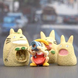 Japanese silicone toy girls online shopping - Sale artificial designs set Japanese Totoro girls Doll PVC Action Figures Toy Fairy Garden Miniatures Craft for Gift Home Decor Accessories