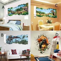 $enCountryForm.capitalKeyWord Canada - 4 Style Fierce Dinosaur 3D Wall Sticker PVC Animal Wall Art Mural for Living Room Bedroom and Kids Room Decoration