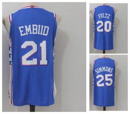 8e74d84de9a 2018 season new version 20 Markelle Fultz 21 Joel Embiid 25 Ben Simmons  Men s Basketball Jerseys  20 Fultz Simmons Jerseys Men Sport Jersey ...