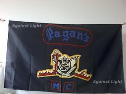 8382571af4ac4 Bandera del club de motociclismo de Pagan 90 x 150 cm Poliéster The Pagans  Outlaw MC Biker Banner
