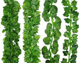 $enCountryForm.capitalKeyWord Canada - 2m Artificial Ivy Leaf Garland Plants Vine Fake Foliage Flowers Plastic Plants For DIY decoration Free Shipping G1181