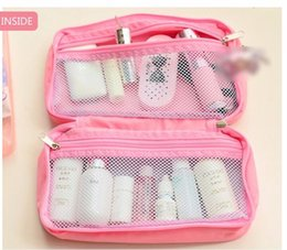 Cute Cosmetic Pouches Canada - Pink Cute Necessary Cosmetic Bag Travel Business Makeup Case Wash Pouch Waterproof Female Beauty Toiletry Accessories products