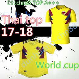 ad1207ccb56 ... Top THailand Quality 2018 WORLD CUP 18 COLOMBIA National Team Home Away Soccer  Jersey FALCAO JAMES ...