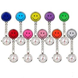 nurse doctor pocket watch 2019 - Glow in Dark Emoji Smile Face Nurse Doctor Pocket Watch Clip Watch Fashion Jewelry Gift Will and Sandy Drop Shipping che