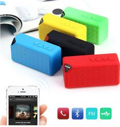 Surround Sound Speaker Mini Canada - MINI Bluetooth Speaker X3 water cube TF USB FM Wireless Portable Music Sound Box Subwoofer Loudspeakers with Mic caixa de som