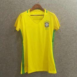 wholesale 2016 brazil women home soccer jerseys thai aaa quality custom name number neymar jr lady 1