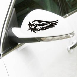 $enCountryForm.capitalKeyWord Canada - 2017 Hot Sale Guardian Angel Wings Lovely Car Stickers Fashion Car Rearview Mirror Creative Jdm
