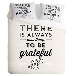 $enCountryForm.capitalKeyWord Canada - Simple Generous White Text Reactive Printing Bedding Set Twin Full Queen King Size Bedroom Decoration Woven 400TC Duvet Cover Pillow Shams