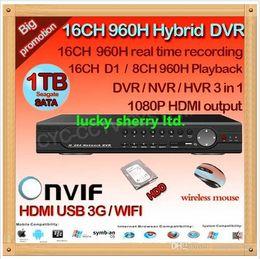 Dvr Cctv NZ - CIA-home surveillance 16ch full 960H D1 security wifi DVR, HDMI 1080P 16 channel DVR NVR ONVIF CCTV video DVR Recorder,HI3531 ,HDD