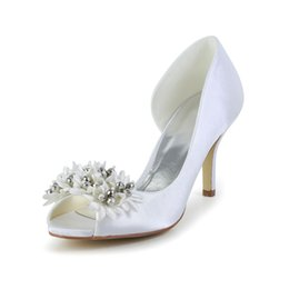 7ba14961dec0 2016 Ivory Color Peep Toe Elegant Style Bridal Shoes Wedding Dress Shoes  Handmade Shoes for Wedding From Size35-Size 42 Free Shipping