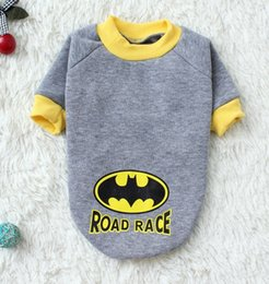 Hoodie Sweater Female Canada - Hot Batman Cartoon Dog Clothes Design Pet Costume Clothing Cat Dog Puppy Hoodie Winter Coat for Dogs Warn Sweater Pet Christmas Gift