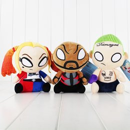 Chinese  18-20cm Movie Suicide Squad Harley Quinn Clown Doll Plush Soft Stuffed Doll Toy for kids gift Free Shipping retail manufacturers