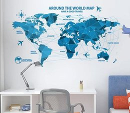 World map removable mural nz buy new world map removable mural home decor wall stickers pvc multicolour pattern mural world map wall stickers english map teaching home decoration stickers gumiabroncs Images