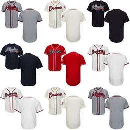 1584af307 ... Jersey White Customized Atlanta Braves Mens Kids Womens baseball  Personalized All Stitched Adult Youth Any NameNO.