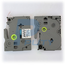 Touch Printer Canada - 5pcs lot TZ121 TZe121 TZe 121 TZe-121 9mm Black on Clear Label Tapes Compatible for P-touch Label Printers