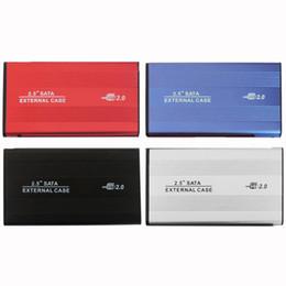 USB 2.0 2.5 pulgadas SATA IDE recinto Caja de caja externa Lector de disco móvil para disco duro portátil HDD disco duro aleación de aluminio y magnesio en venta