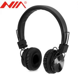 Discount fone ouvido bluetooth usb - Original NIA X3 Headset Wireless Stereo Bluetooth Headphones fone de ouvido bluetooth with Mic Support TF Card FM Radio