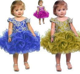 $enCountryForm.capitalKeyWord Canada - Cupcake Puffy Little Kids Pageant Dresses 2017 Sequins Crystal Mini Glitz Ritzee Flower Girl dresses Formal Birthday Party Gowns