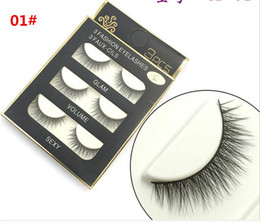 sexy false eyelashes Australia - 300set 3D mink hair false eyelashes 8 Styles Handmade Beauty Thick Long Soft Mink lashes Fake Eye Lashes Eyelash Sexy X036